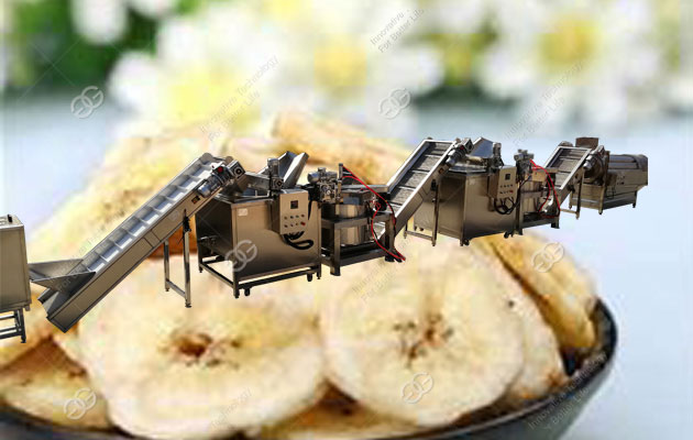commercial banana chips processing line