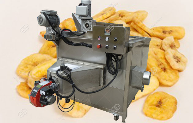 300 Kg/h Plantain Chips Frying Machine|Industrial Banana Chips Fryer Equipment