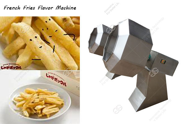 Most Popular French Fries Seasoning Machine|Commercial French Fries Flavoring Equipment|
