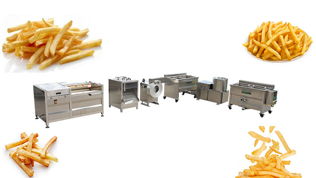 Semi Automatic French Fries Production Line/Small Scale French Fries Making Machine