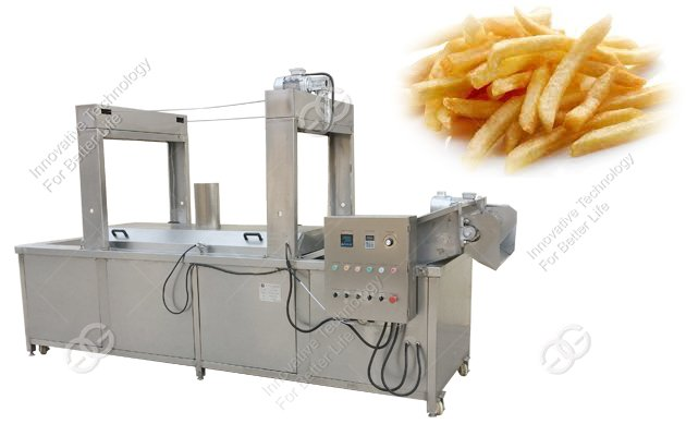 french fries deep frying machine